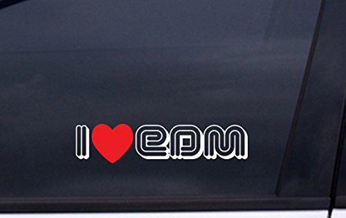 I LOVE EDM decal 2