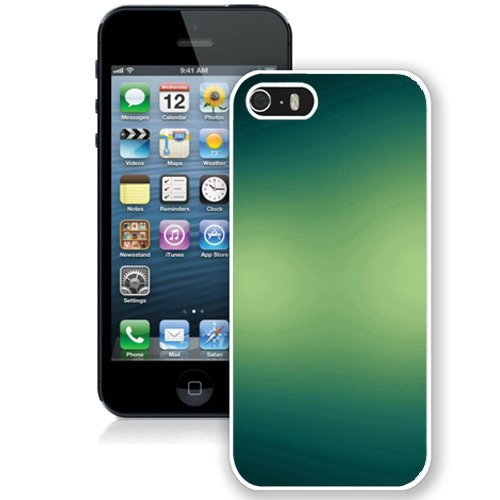 Coque,Fashion Coque iphone 5S Blue Green Textures blanc Screen Cover Case Cover Fashion and Hot Sale Design