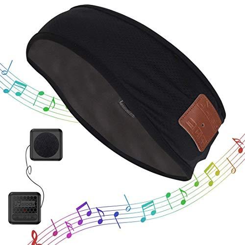 Bluetooth Headband Music Sweatband,Coeuspow Fashion V4.1 Wireless Smart Music Head Wrap Hair Band with HD Stereo Speaker & CVC 6.0 Noise Cancelling Microphone for Running,Yoga,Hiking,Gym -Black