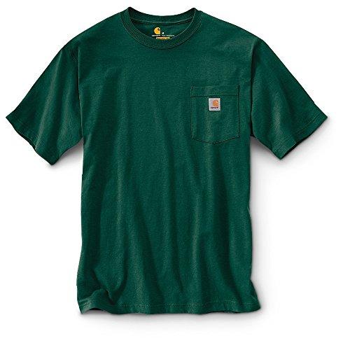 Carhartt Men's Workwear Pocket Short Sleeve Shirt Hunter Green