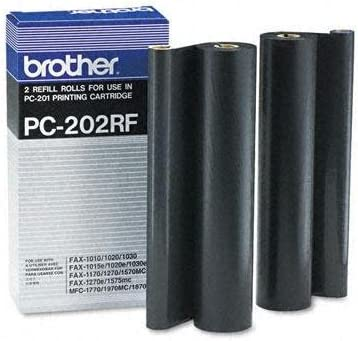 Brother PC202RF Thermal Transfer Refill Roll Black 2/Pack For ...