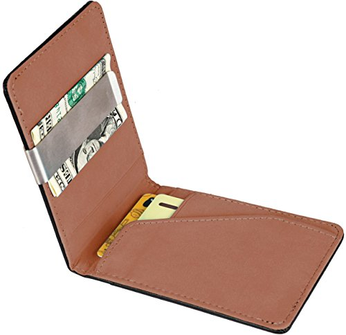 GPCT Bifold [Synthetic Leather] ID Wallet W/ Money Clip for Men/Boys. Compact [Lightweight] Built in 4 Card Clots & Keeps Everything Organized/Nearby - Carbon Manufacturers India Fibre In