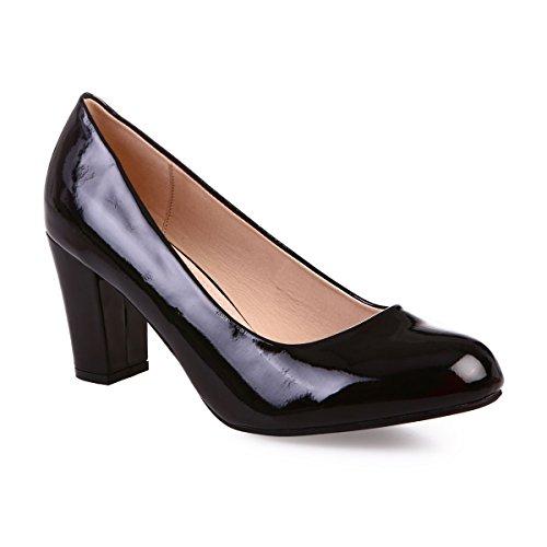 De Vestir Modeuse Zapatos 47137 Sintético La Negro Mujer 8wPtAqnWH