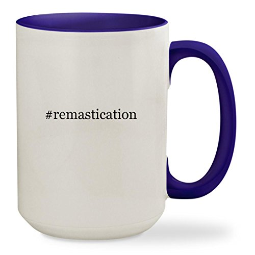 Price comparison product image #remastication - 15oz Hashtag Colored Inside & Handle Sturdy Ceramic Coffee Cup Mug, Deep Purple