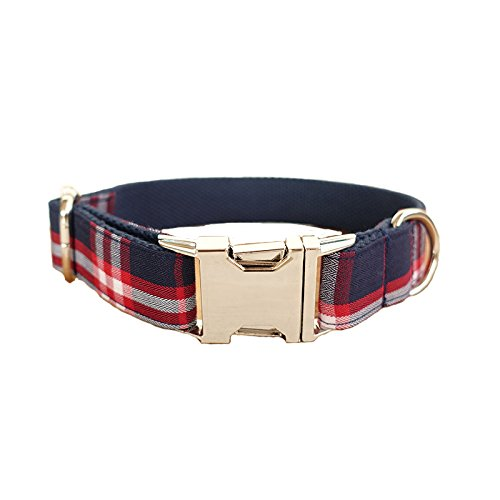 Collar XS 2cm  23-30cm Collar XS 2cm  23-30cm PENIVO Plaid Dog Collar,bluee,XS,23cm-30cm Adjustable Nylon Classic Dog Collars for Small Medium Dogs