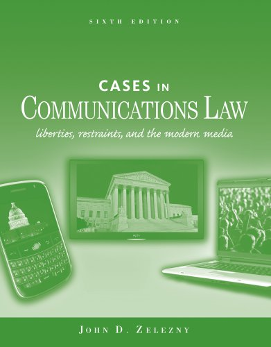 Cases in Communications Law (General Mass Communication) Pdf
