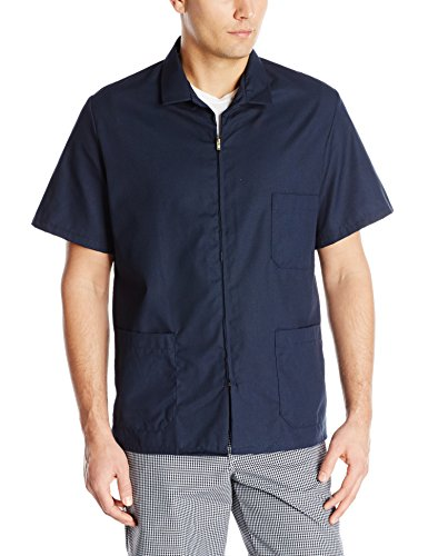 Red Kap Men's Zip-front Smock, Navy, Short Sleeve (Mens Smock)