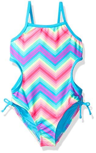 Price comparison product image Angel Beach Little Girls' Rainbow Bliss Chevron Monokini One Piece Swimsuit, Multi, 6