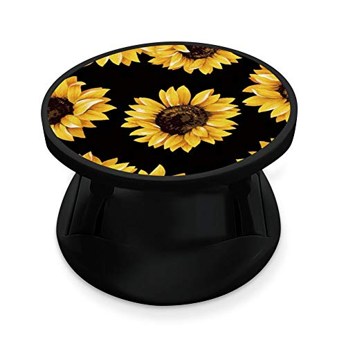 Collapsible Expanding Grip Kickstand for Phone and Tablets Sunflower