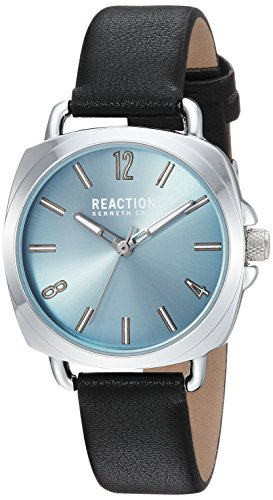 Kenneth Cole REACTION Women's Quartz Metal Casual Watch, Color:Black (Model: RK50100007)