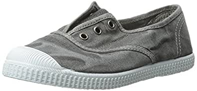 Cienta Kids Canvas Slip On Sneakers for Girls and Boys - Grey, 30 EU (12 M US Little Kid)