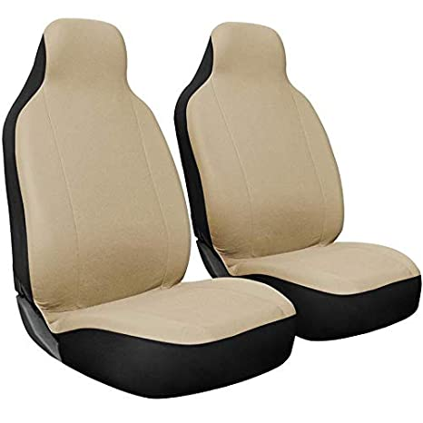 Newly Designed Motorup America Mesh Auto Bench Seat Cover Full Set Fits Select Vehicles Car Truck Van SUV Solid Beige