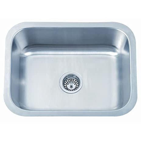 Large Under Counter Mounted Brushed Stainless Steel Kitchen Sink ...