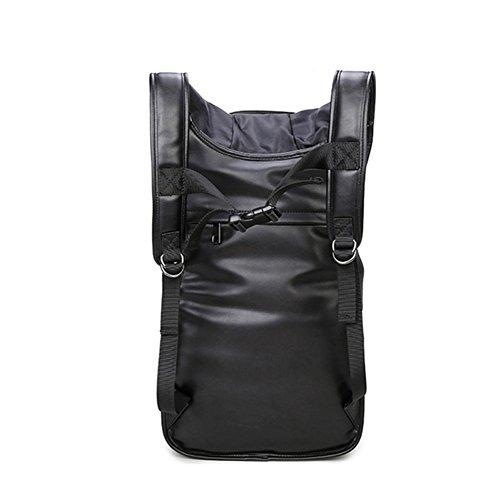 Cool men ' s creative bandolera doble/cabeza del cráneo remache bolsa/bolso de hombro doble personalizado-Negro Negro