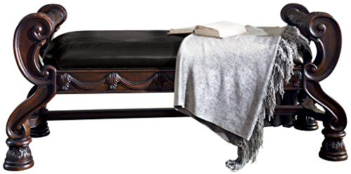 Signature Design by Ashley B553-09 North Shore Large Upholstered Bedroom Bench, Brown ()