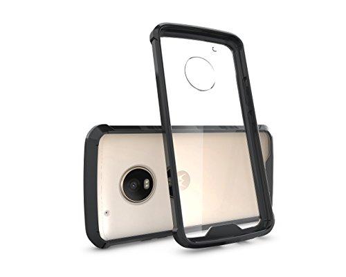 CruzerLite defensa Fusion Fender Tpu/duro plástico caso para Motorola Moto G5Plus–transparente Negro