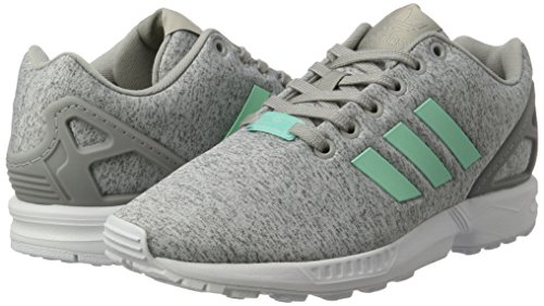 Basses easy Adidas White Gris ftwr Mint Grey Zx Flux Femme medium Heather Baskets q1BStng1