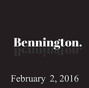 Bennington, Todd Barry, February 2, 2016 Radio/TV Program
