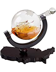 Etched Globe Whiskey Decanter 850 ML