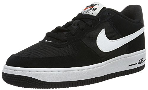 NIKE Youth Air Force 1 (GS) Boys Basketball Shoes Black/White 596728-026 Size 5.5