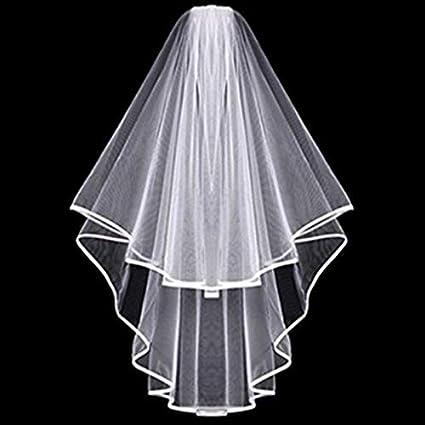 Diy Wedding Veil.Amazon Com Party Diy Decorations White Bridal Wedding Veil Bride