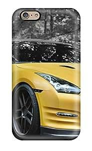 Premium Durable Yellow Gtr Car Fashion Tpu Iphone 6 Protective Case Cover wangjiang maoyi