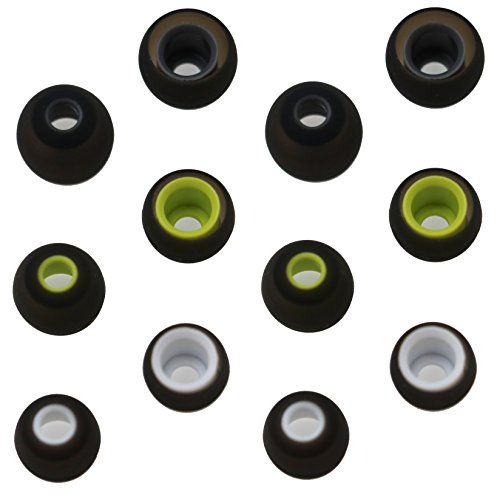 ALXCD Ear Tip for Jaybird X2 X Earphone, SML 3 Sizes 6 Pair