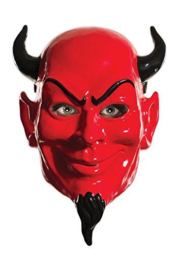 Rubie's Women's Scream Queens Devil 1/2 Mask, Red, One Size