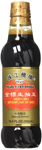 Pearl River Bridge Golden Label  Superior Light Soy Sauce, Plastic Bottles, 16.9 ()