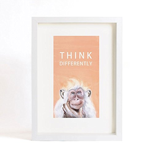 """Animal Art Print of Original Watercolor Painting, """"Monkey"""" series -Think Differently-Unique Gift for New House from IGREANpainting"""