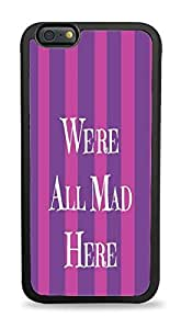 Popular We're All Mad Stripes ed Design Silicone Phone Case for ipad ipod touch 5