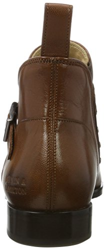 Melvin & Hamilton Women's Jessy 28 Chelsea Boots Brown (Salerno Woody + Mixed Rivets, Ela. Brw+strap Woody, Hrs Salerno Woody + Mixed Rivets, Ela. Brw+strap Woody, Hrs)