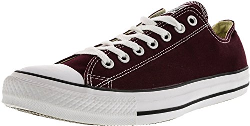 Converse Chuck Taylor All Star Ox Män Rund Tå Canvas Solbränna Sneakers Vinrött