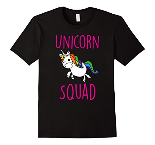 Small Unicorn (Mens Unicorn Squad Cute Funny Unicorn Shirt Small Black)