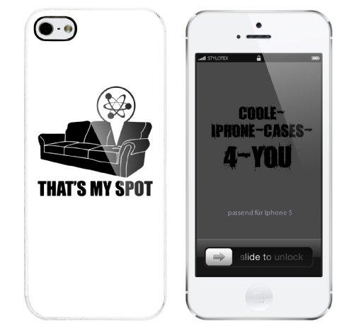 Iphone 5 Case That s my Spot schwarz Rahmen weiss