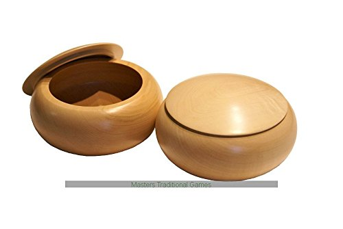 Wooden Go Bowls - Pair natural Lindenwoodの商品画像