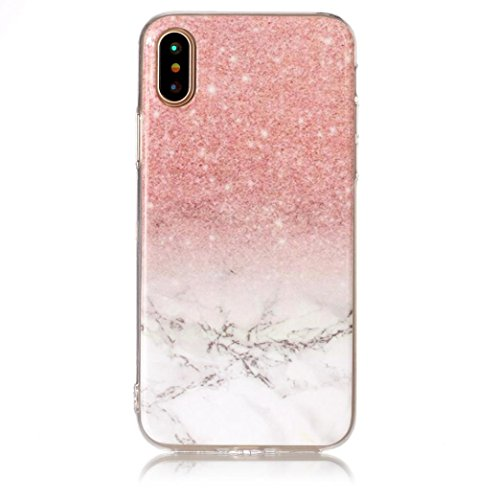 Price comparison product image Apple iPhone X Cases,  METFIT Marble TPU Printed Painting Pattern Phone (F)