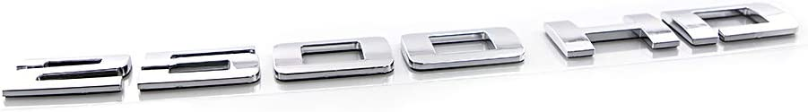 CARRUN 2Pcs 2500HD Emblems Premium Car 3D Nameplate For GM Silverado Sierra Black