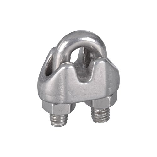 National Hardware N348-888 V4230 1/8in. Wire Cable Clamps, Satinless Steel 25 Pack by National Hardware