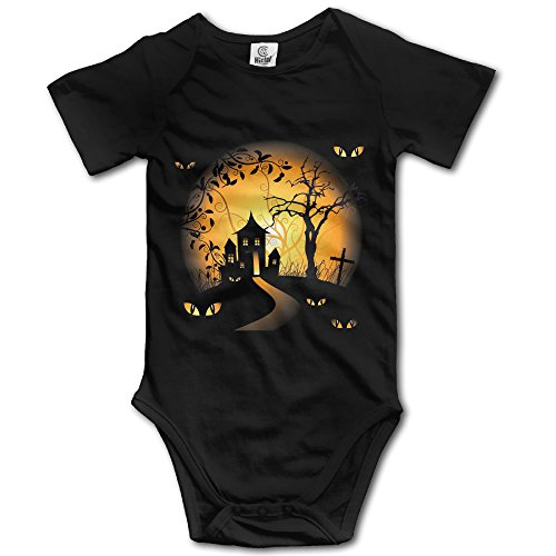 Infant 100% Cotton Short Sleeve Bodysuit Outfits For Scary (Scary Movies On Halloween Night 2017)