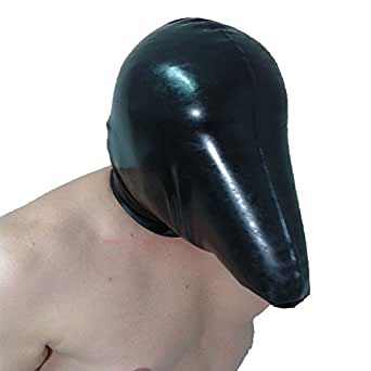 Latex rebreather hood