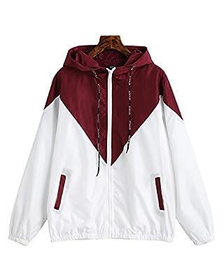 ZAFUL Women's Hooded Jacket Lightweight Active Outdoor Hoodie Running Sport Windbreaker Coat Jacket