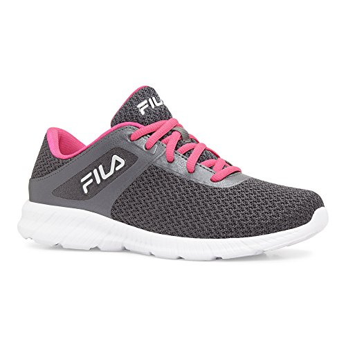 Skip Running-Shoes, Dark Shadow/Pink Glo/White, 8.5 Medium US (Dark Pink Leather Footwear)