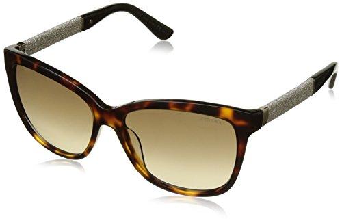 Jimmy Choo Cora/S Sunglasses - 0FA5 Dark Havana (JD Brown Gradient Lens) - - Choo Jimmy Shop
