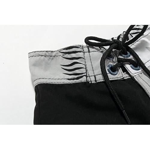 Chico Shorts de tablero de baño hawaiano con lazo en negro y gris floral  Envio gratis 052de2fd468ff