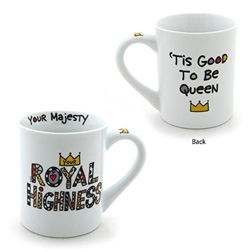 Enesco 4029239 Our Name Is Mud by Lorrie Veasey 16-Ounce Porcelain Royal Mug, (Our Name Mud Gifts)
