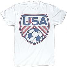 USA T-Shirt | Vintage Faded Soccer T-Shirt by ChalkTalkSPORTS