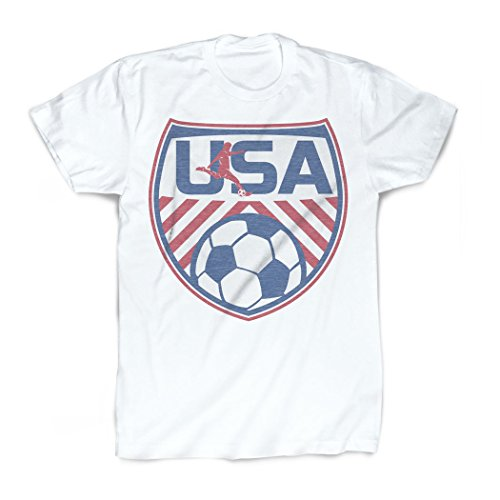 (USA T-Shirt | Vintage Faded Soccer T-Shirt by ChalkTalkSPORTS | Adult Medium)