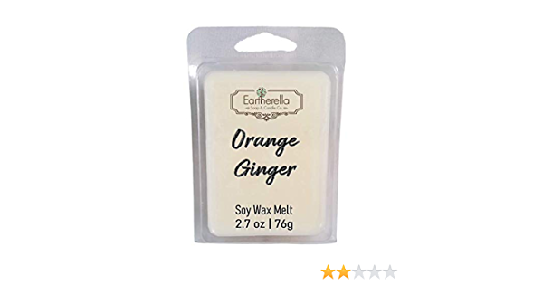 stocking stuffer Eartherella ORANGE GINGER Natural Soy Wax break-apart tart melts 2.7 oz.