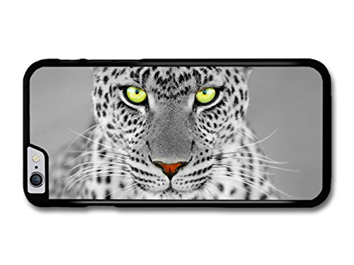White :Leopard With Green Eyes coque pour iPhone 6 Plus 6S Plus
